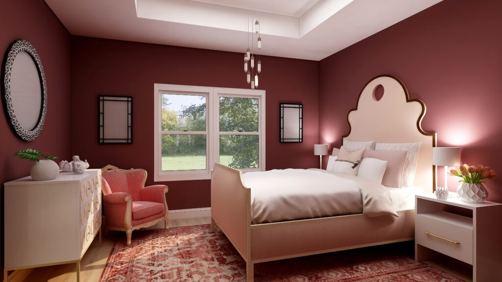 HGTV Home by Sherwin-Williams 2021 Color of the Year: Passionate. Edesign by Northern Lights Home Staging and Design