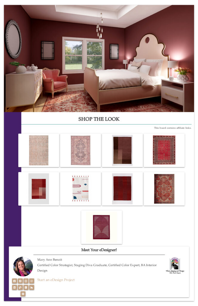 Red and pink global style rugs