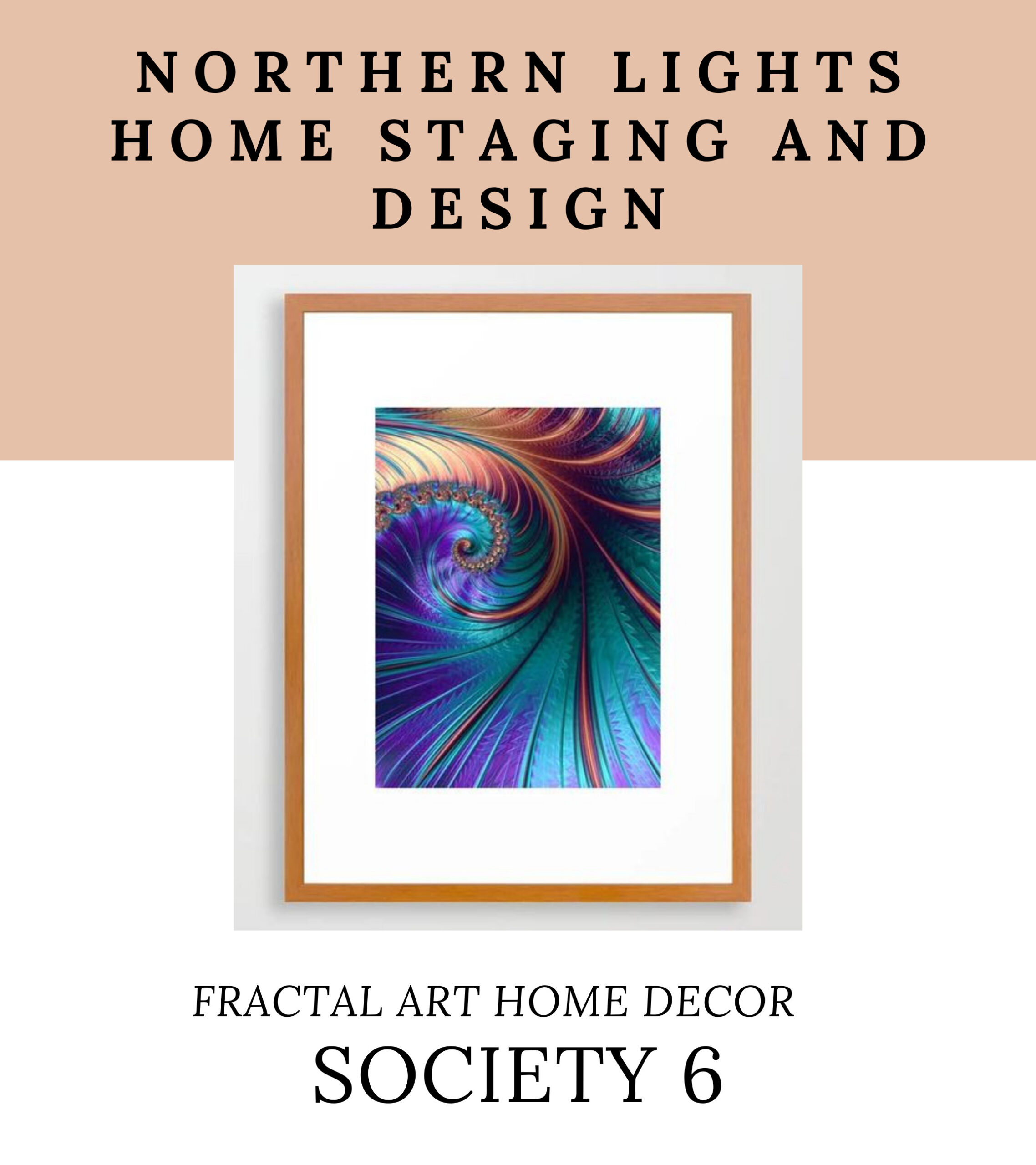 Northern Lights Home Staging and Design Fractal Art Home Decor on Society 6