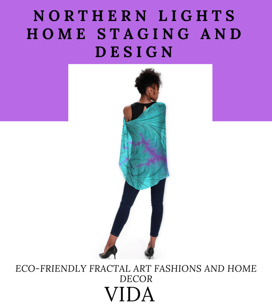 Northern Lights Home Staging and Design Fractal Art Fashions on Vida
