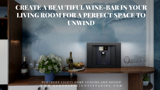 Create a Beautiful Wine-Bar in Your Living Room for a Perfect Space to Unwind, Beautiful Bohemian Living Room Edesign, incorporating a Plum Wine Dispenser and Revel Woods Kachina maple flooring.