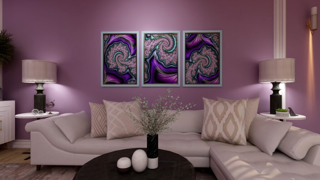 A Passion for Purple by Mary Ann Benoit of Northern Lights Home Staging and Design